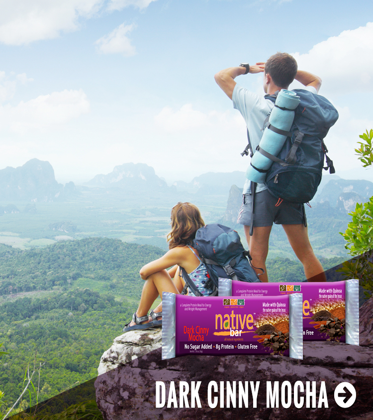 Native Bars are Gluten Free, Vegan, Kosher, NON-GMO, and perfect for wherever your journey takes you
