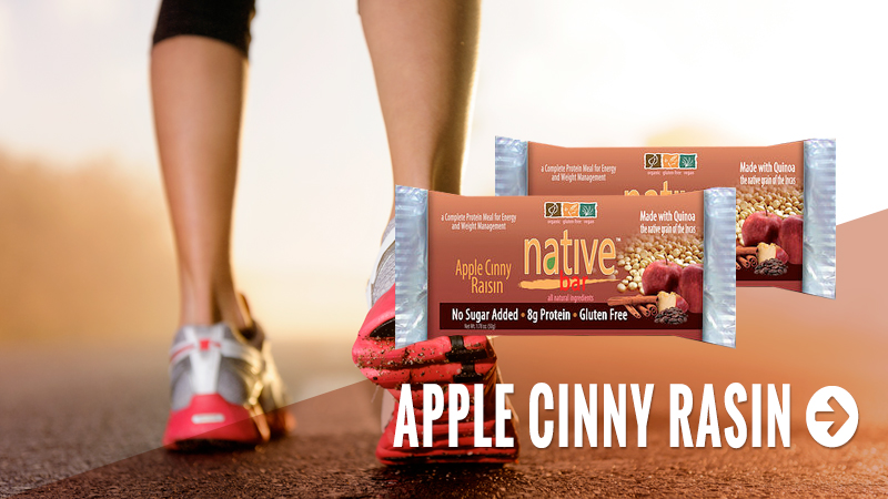 Native Bars are a gourmet energy bar designed with taste in mind